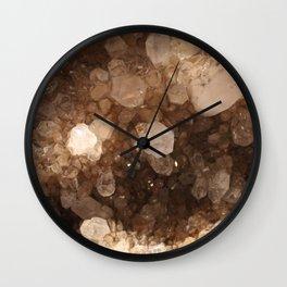 Quartz Crystal Energy Stone Magic Healing Witchy Gems Druzy Photography Wall Clock