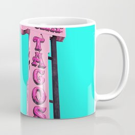 Cha-Cha's Tacos Retro Vintage Pink Sign Coffee Mug