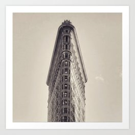 Flatiron Building, original New York photography, skyscrapers, wall decoration, home decor, nyc b&w Art Print