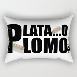 Narcos - Silver or Lead? Rectangular Pillow