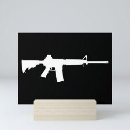 AR-15 (on black) Mini Art Print