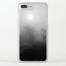 Misty riverside Clear iPhone Case