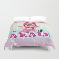 vegeta Duvet Covers featuring Dr Slump & Arale  by Neo Crystal Tokyo
