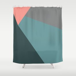 Flashlight, blue & pink, abstract graphic Shower Curtain