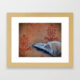 Oil Paint Study - Magpie Pattern Framed Art Print