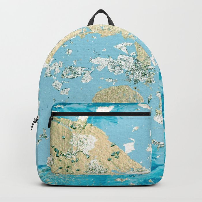 Gold Abstract Modern Painting Backpack