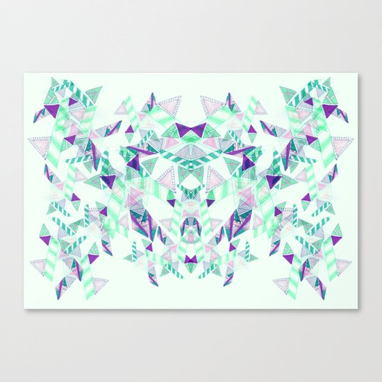 Kaleidoscopic print illustration  Canvas Print