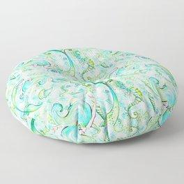 Mermaid Pattern 05 Floor Pillow