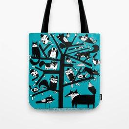 ANIMAL TREE AQUA Tote Bag