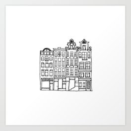 canal houses one Art Print