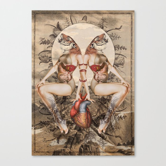 tiger lily *collage Canvas Print