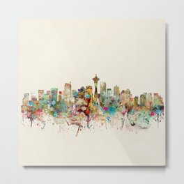 seattle skyline Metal Print