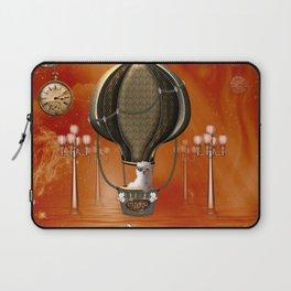 Steampunk, hot air ballon with cute steampunk  puppy Laptop Sleeve