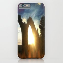 Fire at the tower iPhone Case