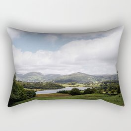 Blelham Tarn nestled amongst the hills of the Lake District, Cumbria, UK.  Rectangular Pillow