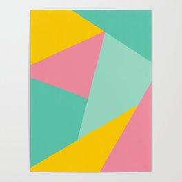 Bight Abstract Geometric Pattern Poster