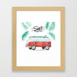 Surf Vibes Framed Art Print