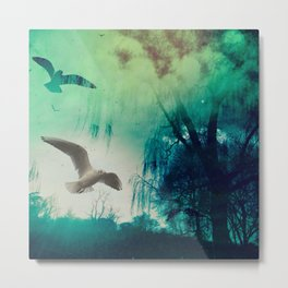 Green Dreams Metal Print