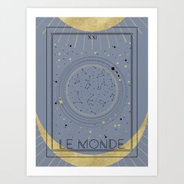The World or Le Monde Tarot Art Print