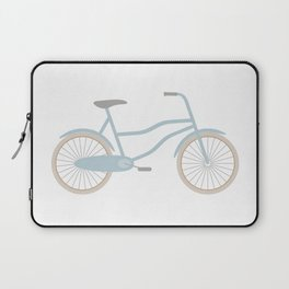 Blue Retro Bicycle Laptop Sleeve