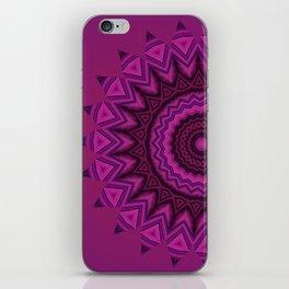 Deep purple mandala iPhone Skin