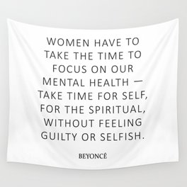 Queen Bey Quote - Women Wall Tapestry