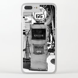 Route 66 Gas Clear iPhone Case