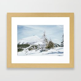 Sniezka Winter Mountains Framed Art Print