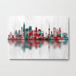 Seoul South Korea Skyline Metal Print