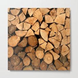 fire wood Metal Print