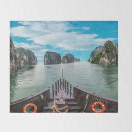Ha Long Bay Throw Blanket