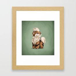 Growlithe Framed Art Print