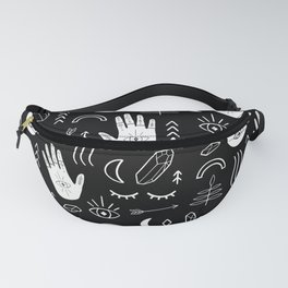 Inverted Witchy Pattern Fanny Pack