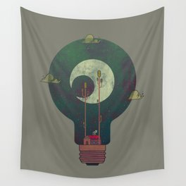 Nocturnal Pondering Wall Tapestry