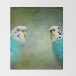 The Budgie Collection - Budgie Pair Throw Blanket