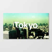 tokyo Canvas Prints featuring TOKYO by very giorgious