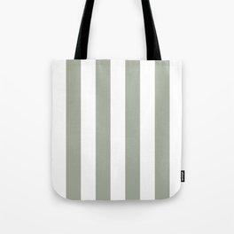 Desert Sage Grey Green Circus Tent Stripe Tote Bag
