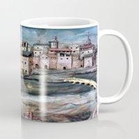 spain Mugs featuring old Spain by oxana zaika