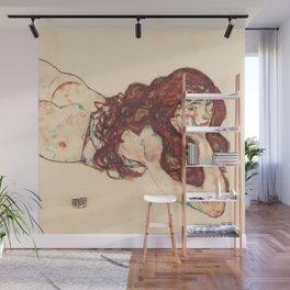 """Egon Schiele """"Auf dem Bauch liegender weiblicher Akt"""" Wall Mural"""