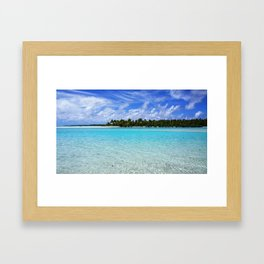 Blue Lagoon Framed Art Print
