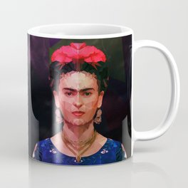 FRIDA KAHLO GEOMETRIC PORTRAIT Coffee Mug