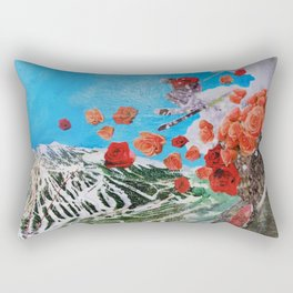 Ski Roses Rectangular Pillow