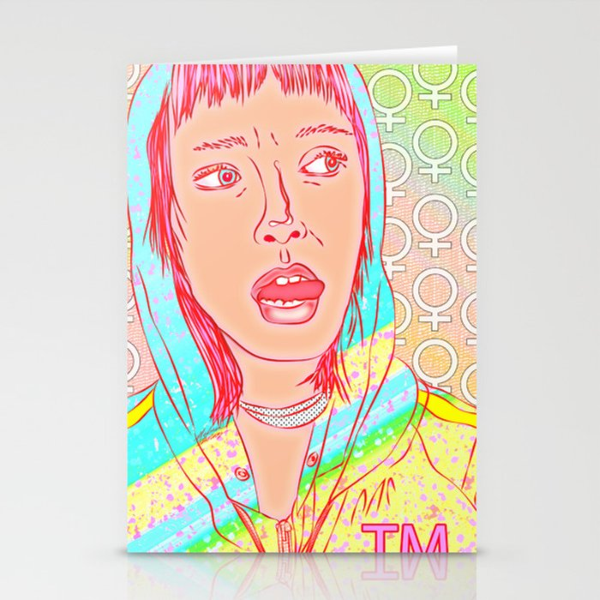 FEM NotShe - Feminist Digital Pride Drawing Pastel Rainbow Stationery Cards