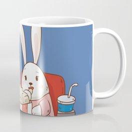Bunnies Movie Night Coffee Mug