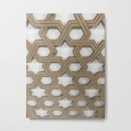 Wooden star shaped Metal Print