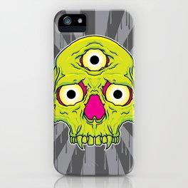 3 Eyed Jackass (green) iPhone Case