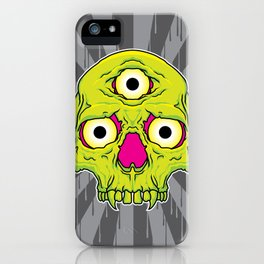 3 Eyed Jackass (green) iPhone Case