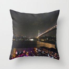 Istanbul Lights! Throw Pillow