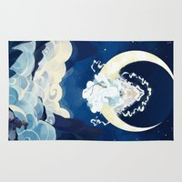 avatar the last airbender Area & Throw Rugs featuring Yue - Avatar by Stephanie Kao