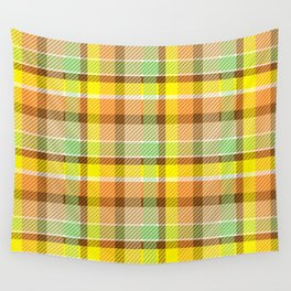 Citrus Tart(an) Wall Tapestry